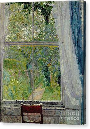 Country Cottage Canvas Print - View From A Window by Spencer Frederick Gore
