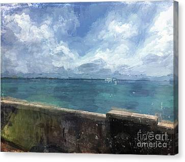 St George Canvas Print - View From Bermuda Naval Fort by Luther Fine Art