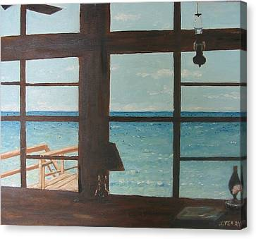 View From Blue House II Canvas Print by John Terry