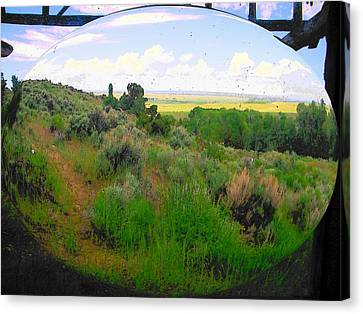 View From Cabin Window Canvas Print by Lenore Senior