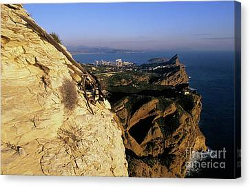 View From Cap Canaille At Sunset Canvas Print by Sami Sarkis
