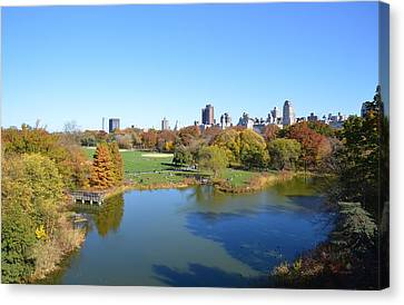 View From Central Park Ny Canvas Print
