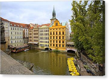 View From Charles Bridge 2 Canvas Print by Madeline Ellis