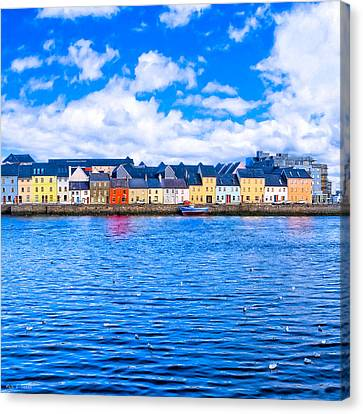 View From Claddagh Quay - Galway Canvas Print by Mark E Tisdale