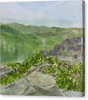Canvas Print featuring the painting View From Craggy Gardens - A Watercolor Sketch  by Joel Deutsch