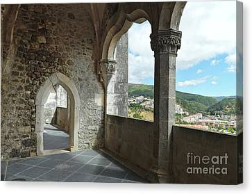 View From De Castle Of Porto De Mos Canvas Print by Angelo DeVal