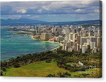 View From Diamond Head Canvas Print by Jon Burch Photography