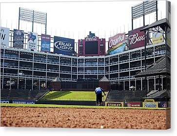 View From Dugout Canvas Print by Malania Hammer