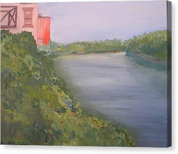View From Edmund Pettus Bridge Canvas Print by Patricia Caldwell