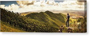 View From Halfway Up Mount Zeehan Canvas Print