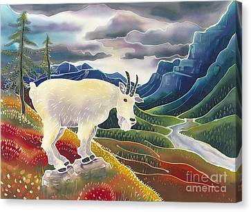 Mountain Goat Canvas Print - View From High Places by Harriet Peck Taylor