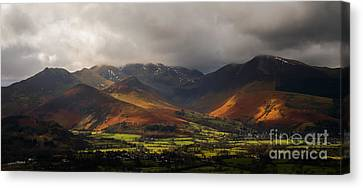 Storm Clouds Over The Western Fells Canvas Print by John Collier