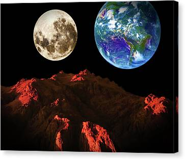 View From Mars Canvas Print by KaFra Art