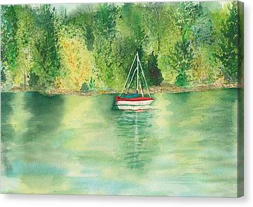 Canvas Print featuring the painting View From Millbay Ferry by Vicki  Housel