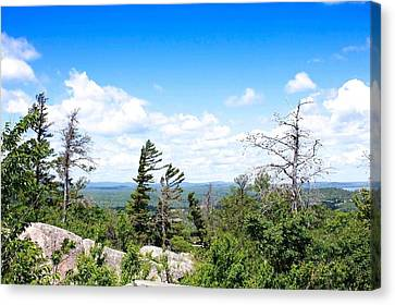 Marquette Canvas Print - View From Mount Marquette by Kendall Tabor