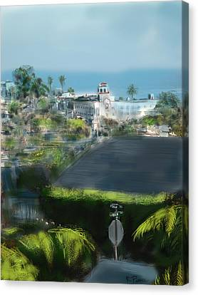 View From My Studio Canvas Print by Russell Pierce