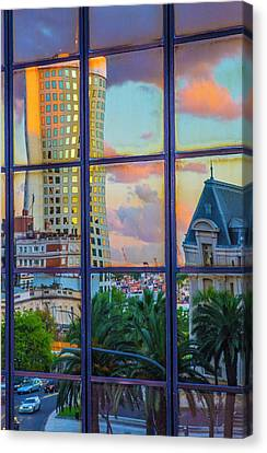 View From My Window At Sunset Canvas Print by Venetia Featherstone-Witty