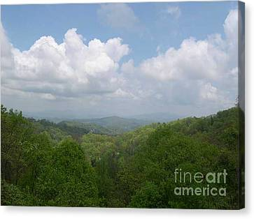 View From Ober Gatlinburg Canvas Print by Barb Montanye Meseroll