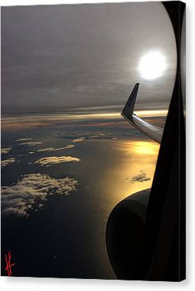 Canvas Print featuring the photograph View From Plane  by Colette V Hera Guggenheim