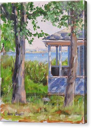 Purple Shadow Canvas Print - View From Pointe Allerton by Laura Lee Zanghetti