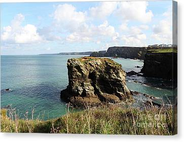 Canvas Print featuring the photograph View From Porth Peninsula by Nicholas Burningham