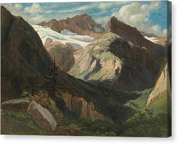 View From Prechalp Towards Tanzbdeli And Tschingelhorn Canvas Print by Alexandre