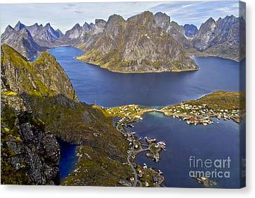 View From Reinebringen Canvas Print by Heiko Koehrer-Wagner