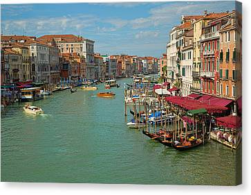 Canvas Print featuring the photograph View From Rialto Bridge by Sharon Jones