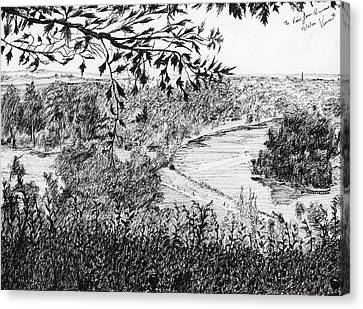 View From Richmond Hill Canvas Print by Vincent Alexander Booth