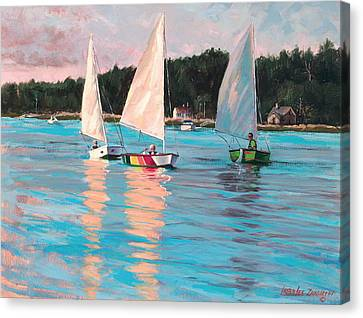 View From Rich's Boat Canvas Print by Laura Lee Zanghetti