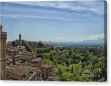 View From Sienna In Italy Canvas Print by Patricia Hofmeester