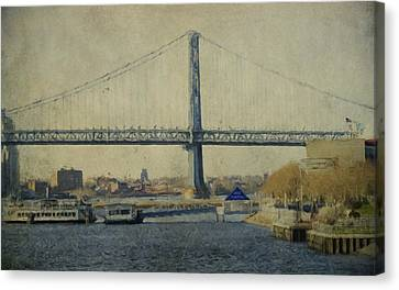 View From The Battleship Canvas Print by Trish Tritz