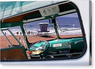 View From The Bus Canvas Print by Ron Regalado