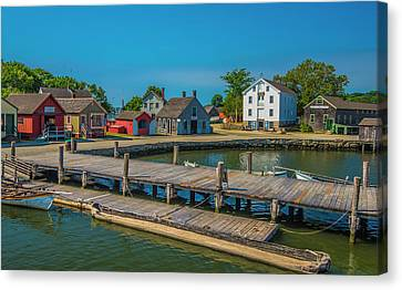 Canvas Print featuring the photograph View From The Dock by Steven Ainsworth