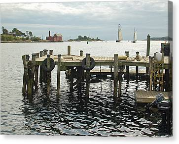 View From The Dock Canvas Print by Suzanne Gaff