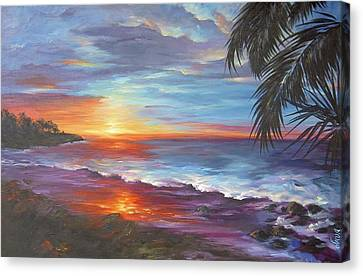 Canvas Print featuring the painting View From The Hammock  by Dina Dargo