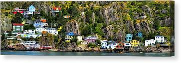 View From The Harbor St Johns Newfoundland Canada Canvas Print by Steve Hurt