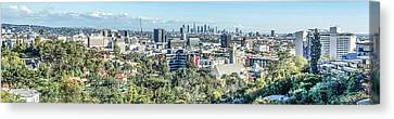 Canvas Print featuring the photograph View From The Hollywood Hills by Ike Krieger