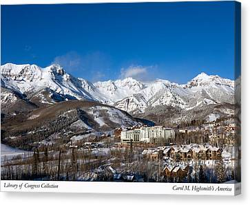 Canvas Print featuring the photograph View From The Mountain Above Telluride by Carol M Highsmith