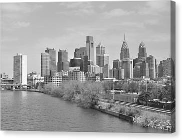 View From The New S.st. Bridge Canvas Print by Brynn Ditsche