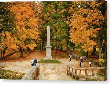 View From The Old North Bridge Canvas Print by Jeff Folger