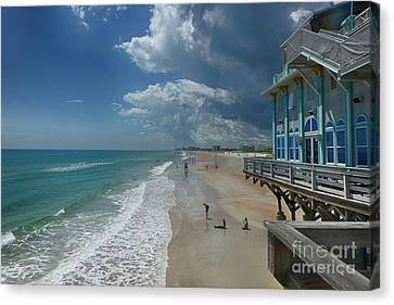 View From The Pier Canvas Print by Judy Hall-Folde