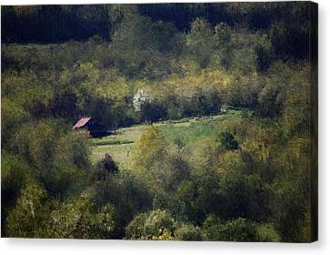 View From The Pond At The Hacienda Canvas Print by David Lane