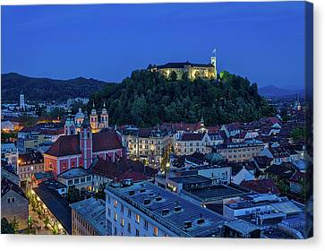 Canvas Print featuring the photograph View From The Skyscraper #2 - Slovenia by Stuart Litoff