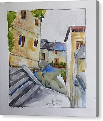 View From The Steps  Canvas Print by Janet Butler