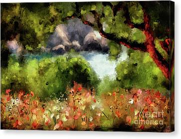Panagia Canvas Print - View From The Terrace - Paleokastritsa  by Lois Bryan