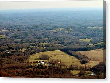 Deep River County Park Canvas Print - View From The Top by Cynthia Guinn