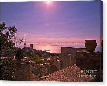 View From The Top In Sicily II Canvas Print by Madeline Ellis