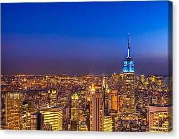 View From The Top - Nyc Skyline Canvas Print by Mark E Tisdale