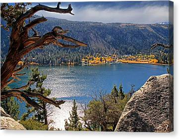 Canvas Print featuring the photograph View From The Top Of June Lake by Donna Kennedy